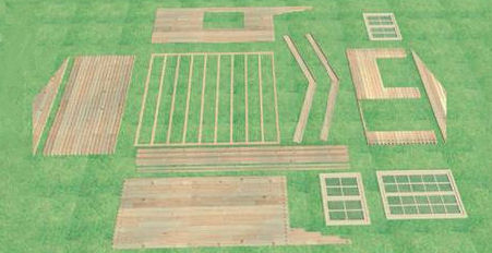 Montage tuinhuis tuinhuiswereld belgi for 2 case kit di storia